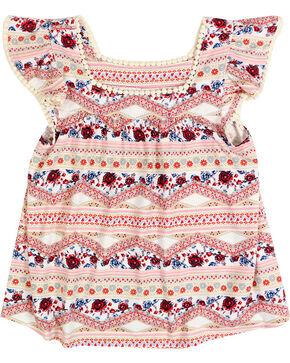 Shyanne® Girls' Bandana Print Peasant Top, White, hi-res