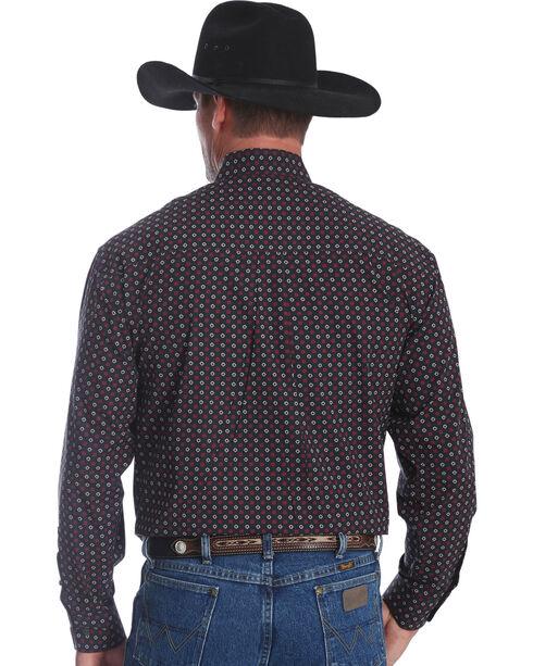 Wrangler Men's Black George Strait Print Long Sleeve Shirt , Black, hi-res