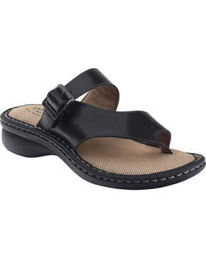 Eastland Women's Black Townsend Thong Sandals , Black, hi-res