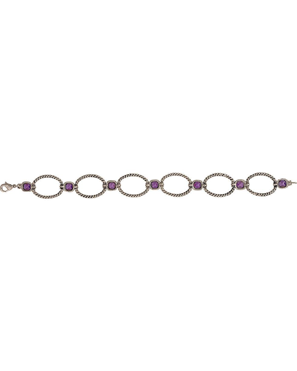 Montana Silvermiths Women's River Lights Link Bracelet, Antique Silver, hi-res
