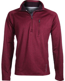 Noble Outfitters Men's Performance Fleece Half Zip Jacket, , hi-res