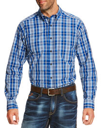 Ariat Men's Blue Reman Long Sleeve Shirt, , hi-res
