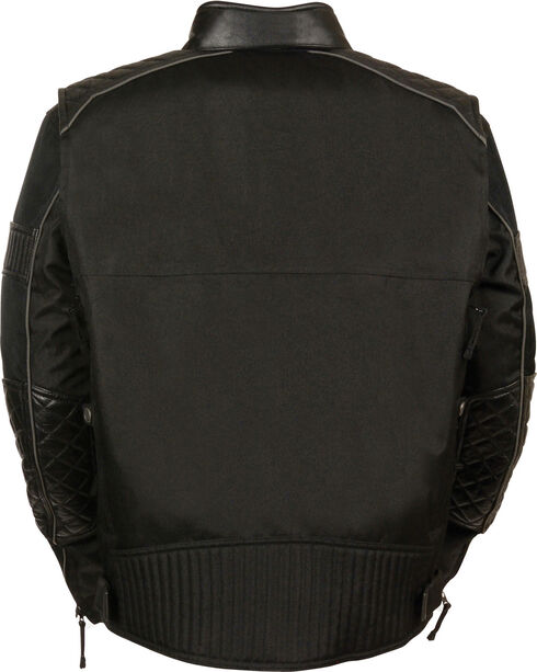 Milwaukee Leather Men's Black Textile Scooter Jacket - 3X, Black, hi-res