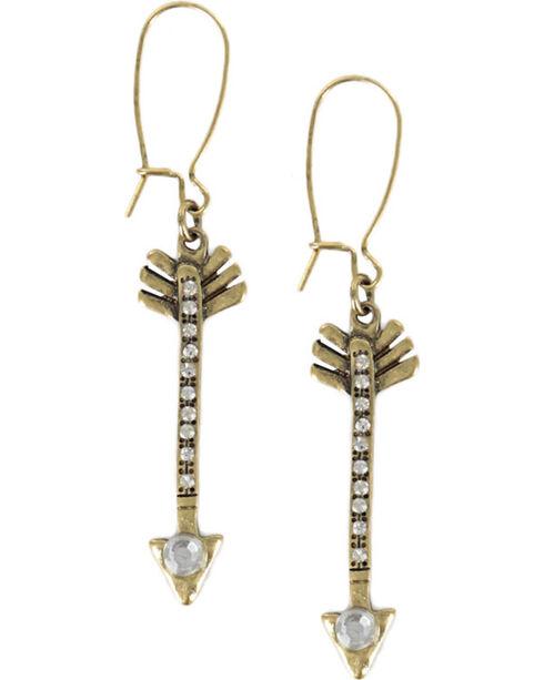 Shyanne® Women's Arrow Earrings, Gold, hi-res