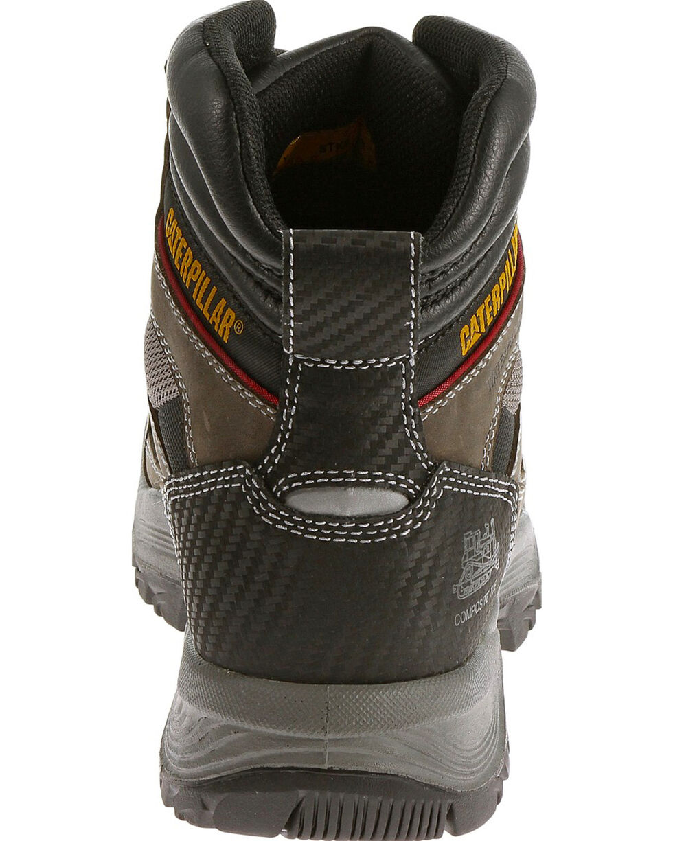 "Caterpillar Men's Compressor Grey 6"" Waterproof Work Boots - Composite Toe , Grey, hi-res"