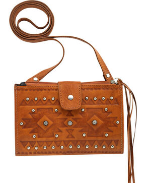 Shyanne® Women's Foldover Crossbody Bag, Tan, hi-res