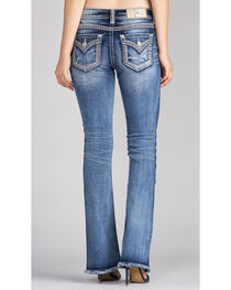 Miss Me Women's Indigo Gold Logo Jeans - Boot Cut, , hi-res