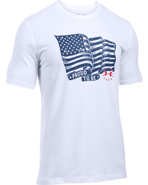 Under Armour Men's Freedom Proud American Tee, White, hi-res