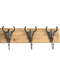 BB Ranch Reclaimed Wood Longhorn Wall Hooks, , hi-res