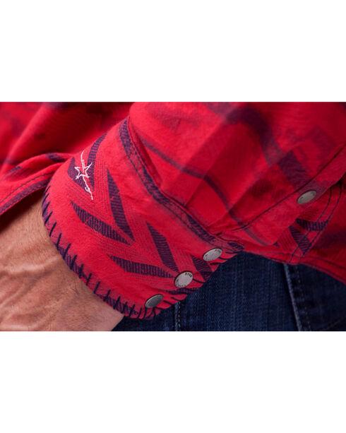 Ryan Michael  Men's Red Beacon Blanket Shirt , Red, hi-res