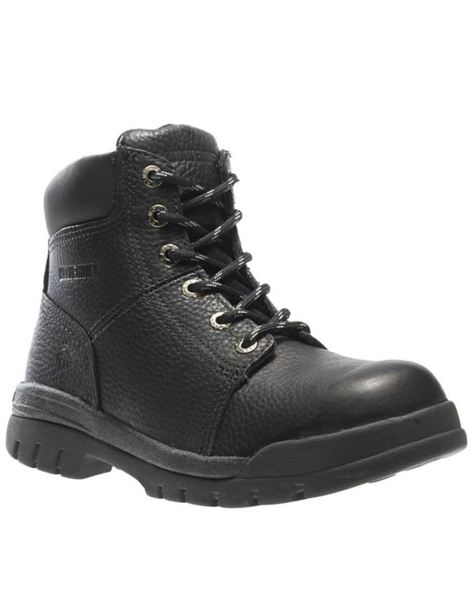 """Wolverine Men's 6"""" Slip Resistant Soft Toe Work Boots, Brown, hi-res"""