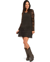 Young Essence Women's Lace Dress with Ruffle Detail, , hi-res
