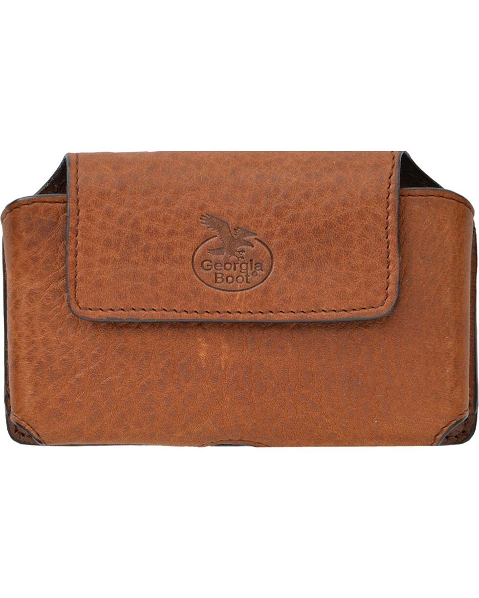Georgia Boot Men's Leather Cell Phone Case, Brown, hi-res