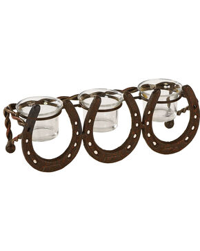 BB Ranch Cast Iron Horseshoe Tealight Holder, No Color, hi-res