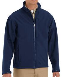 Red Kap Men's Navy Soft Shell Jacket - Big & Tall , , hi-res