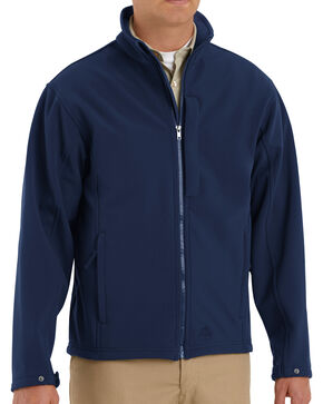 Red Kap Men's Navy Soft Shell Jacket - Big & Tall , Navy, hi-res