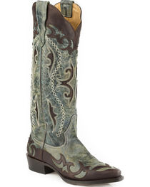 Stetson Women's Vivi Wingtip with Underlays Western Boots - Snip Toe , , hi-res