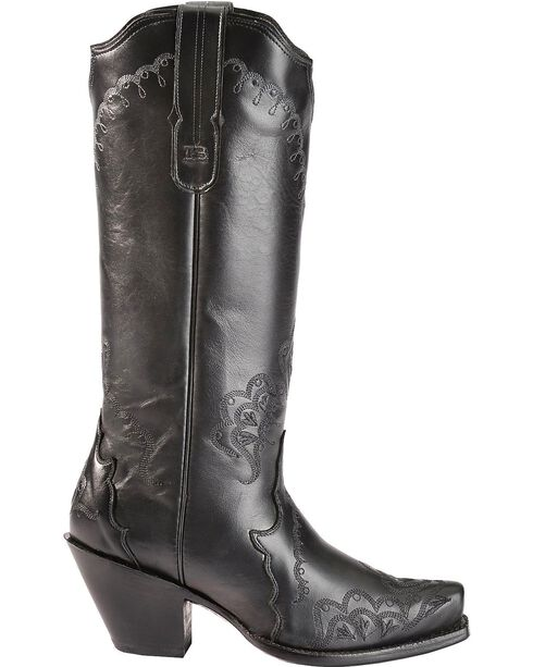 Tony Lama Women's Black Label Western Boots, Black, hi-res