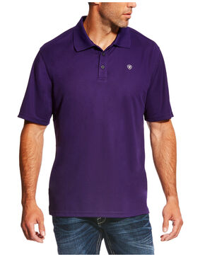 Ariat Men's Tek Polo Shirt, Purple, hi-res