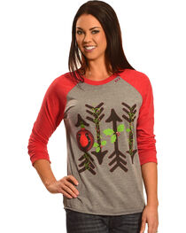 Bohemian Cowgirl Women's Holiday Arrows Long Sleeve Tee, , hi-res