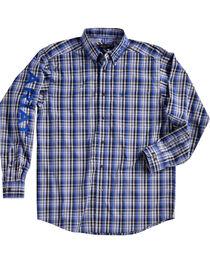 Ariat Men Brookwood Plaid Pro Series Classic Logo Shirt, , hi-res