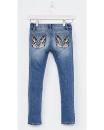 Miss Me Girls' Indigo Butterfly Pocket Jeans - Skinny , , hi-res