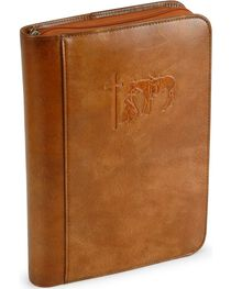 Cowboy Prayer Leather Bible Cover, , hi-res