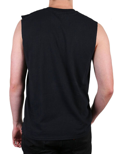 Jack Daniel's Men's Label Sleeveless Tee, Black, hi-res