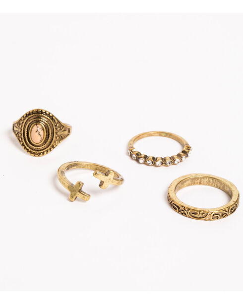 Shyanne Women's Adilene Multi Ring Set, Gold, hi-res