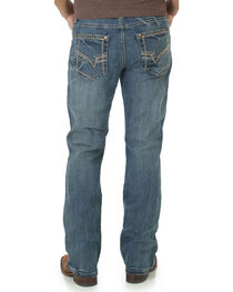 Rock 47 by Wrangler Men's Angular Stitched Slim Boot Cut Jeans, , hi-res