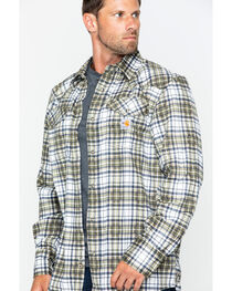 Carhartt Men's Plaid Moss Flame-Resistant Snap-Front Shirt , , hi-res