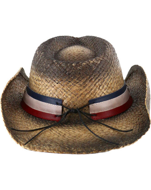 Cody James® Stars and Stripes Straw Fashion Hat, Black, hi-res