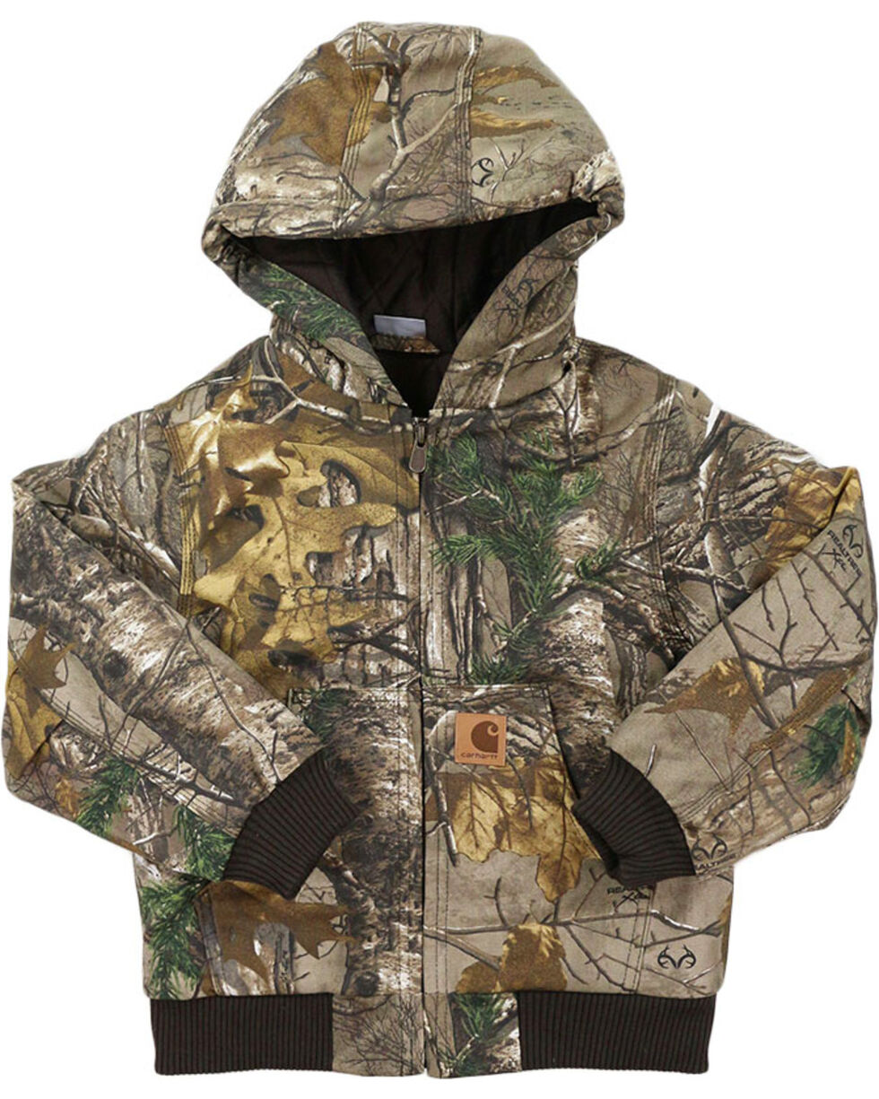 Carhartt Boys' Camo Quilted Lining Active Jacket , Camouflage, hi-res