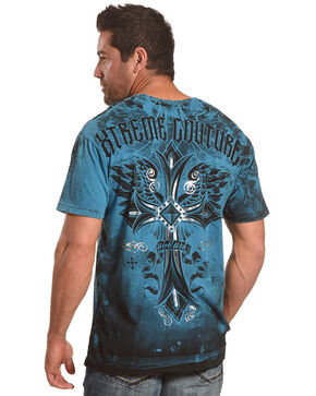 Xtreme Couture Men's Blue Loyal Following Tee , Blue, hi-res