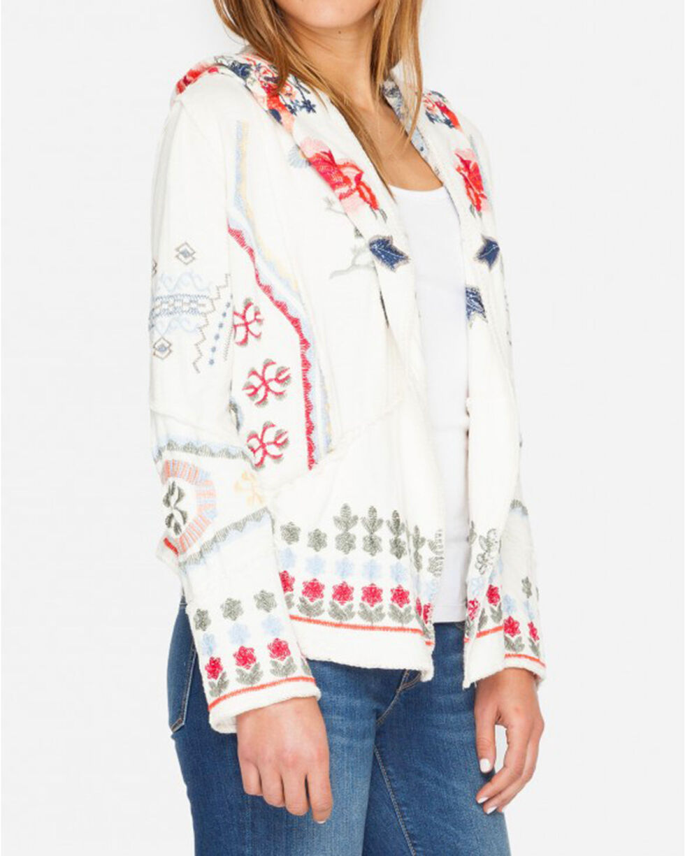 Johnny Was Women's Horent Hoodie, Ivory, hi-res