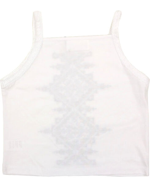Shyanne® Girls' Embroidered Tank Top, White, hi-res