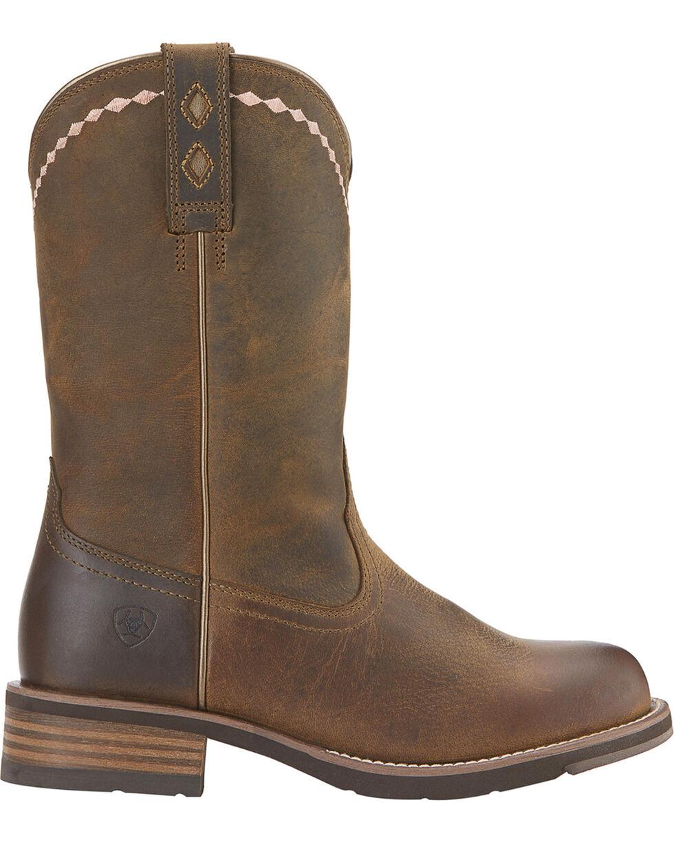 Ariat Women's Unbridled Roper Western Boots, Dark Brown, hi-res