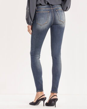 Miss Me Women's Blue Plain Pocket Jeans - Skinny , Blue, hi-res