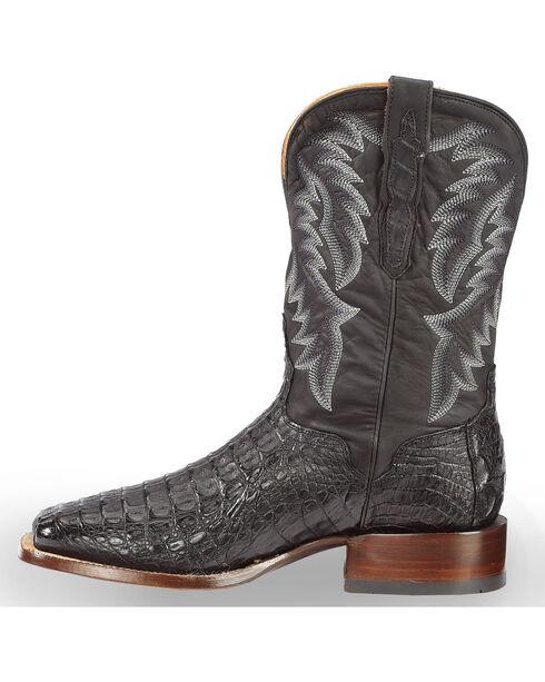 El Dorado Men's Caiman Black Stockman Boots - Square Toe , Black, hi-res