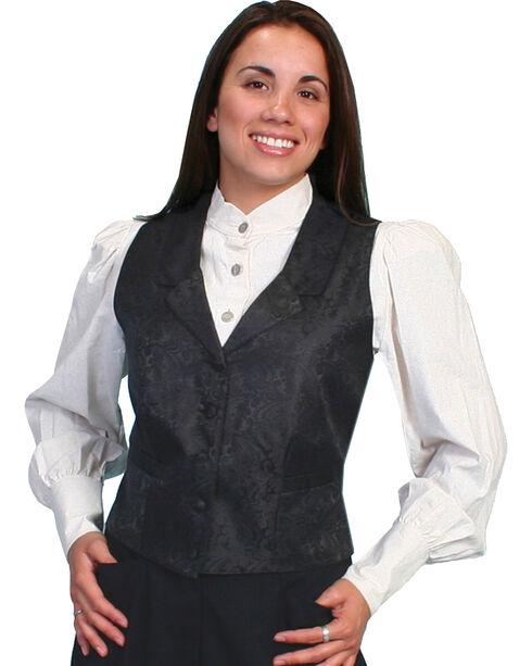 Scully Rangewear Delicate Paisley Vest, Black, hi-res