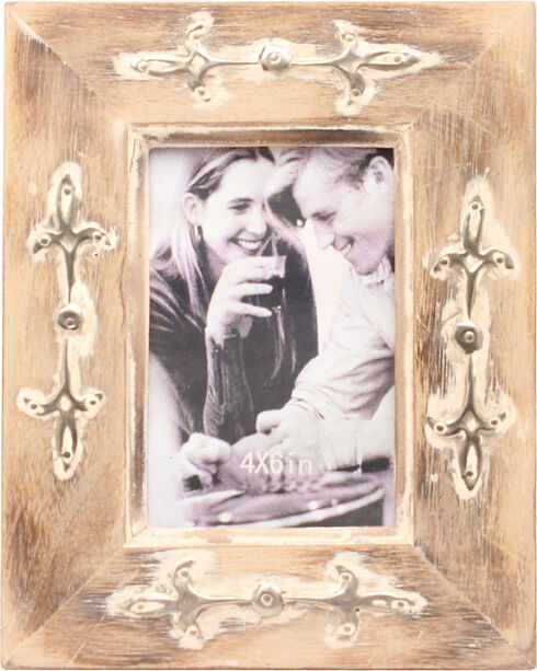 M&F Distressed Wood 4 X 6 Picture Frame, Brown, hi-res