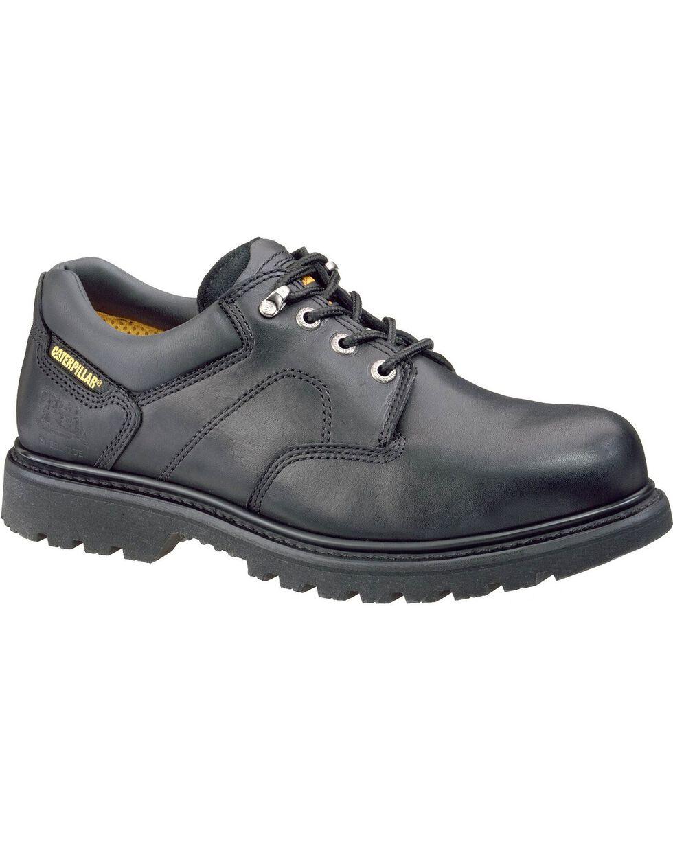 CAT Men's Ridgemont Steel Toe Work Shoes, Black, hi-res