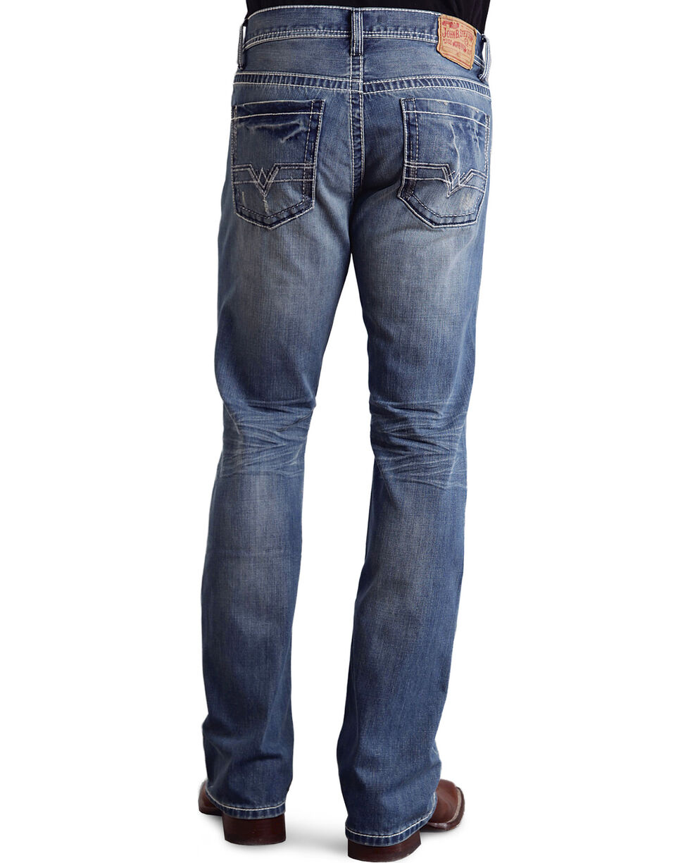 Stetson Men's Rocker Fit Straight Leg Jeans, Light Stone, hi-res