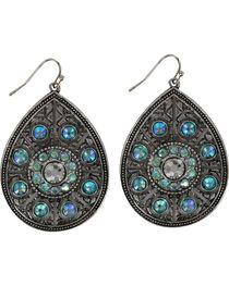 Shyanne® Women's Turquoise Crystal Teardrop Earrings, , hi-res