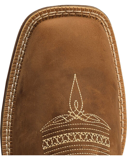 Durango Men's Boot Barn Exclusive Embroidered Square Toe Boots , Brown, hi-res