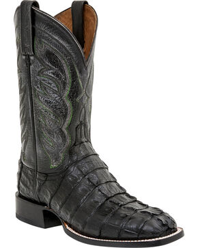 Lucchese Men's Hornback Caiman Tail Exotic Boots, Black, hi-res