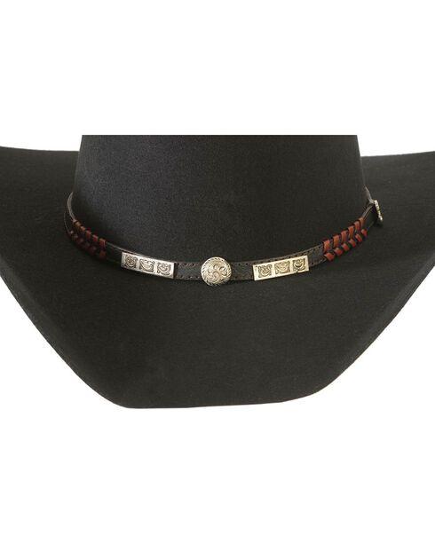 Justin 2X Stampede Wool Cowboy Hat, Black, hi-res