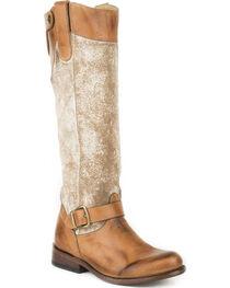 Stetson Women's Brown Mia Western Fashion Boots - Round Toe , , hi-res