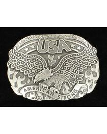 Nocona American Strong Eagle Silver Buckle, , hi-res