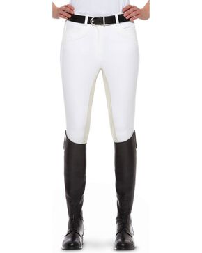 Ariat Olympia Regular Rise Riding Breeches, White, hi-res